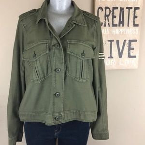 American Eagle Button Front army Jacket